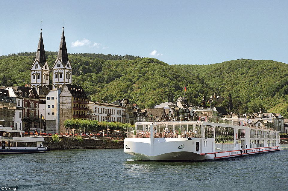 RB Viking Ship on Rhine B  Large Photo