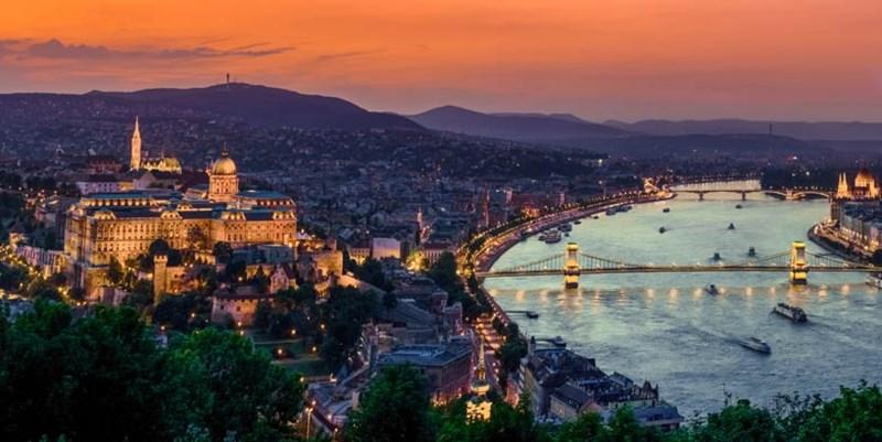 River Cruise Uniworld Night Shot Rhine B