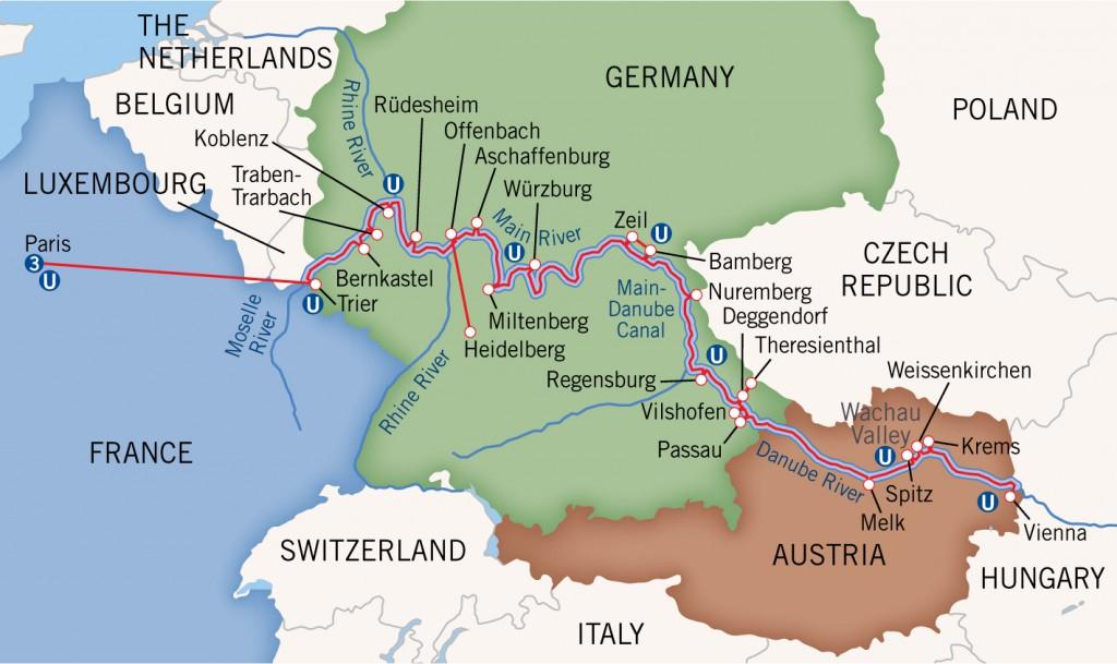 Rhine Moselle Danube Main