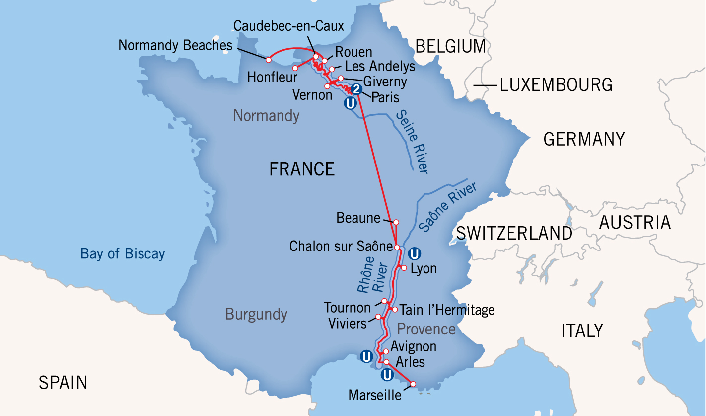 Charting Europes River Boat Routes - World map seine river