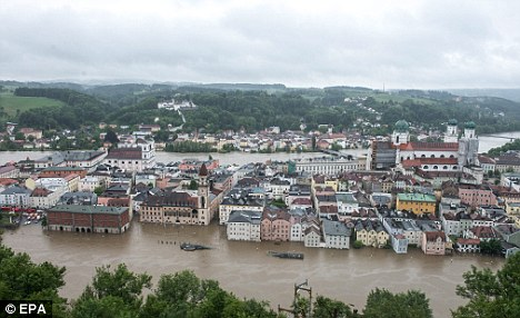 River Boat Flooding Passau