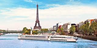 River Cruise shot Seine Eifel in Background BX