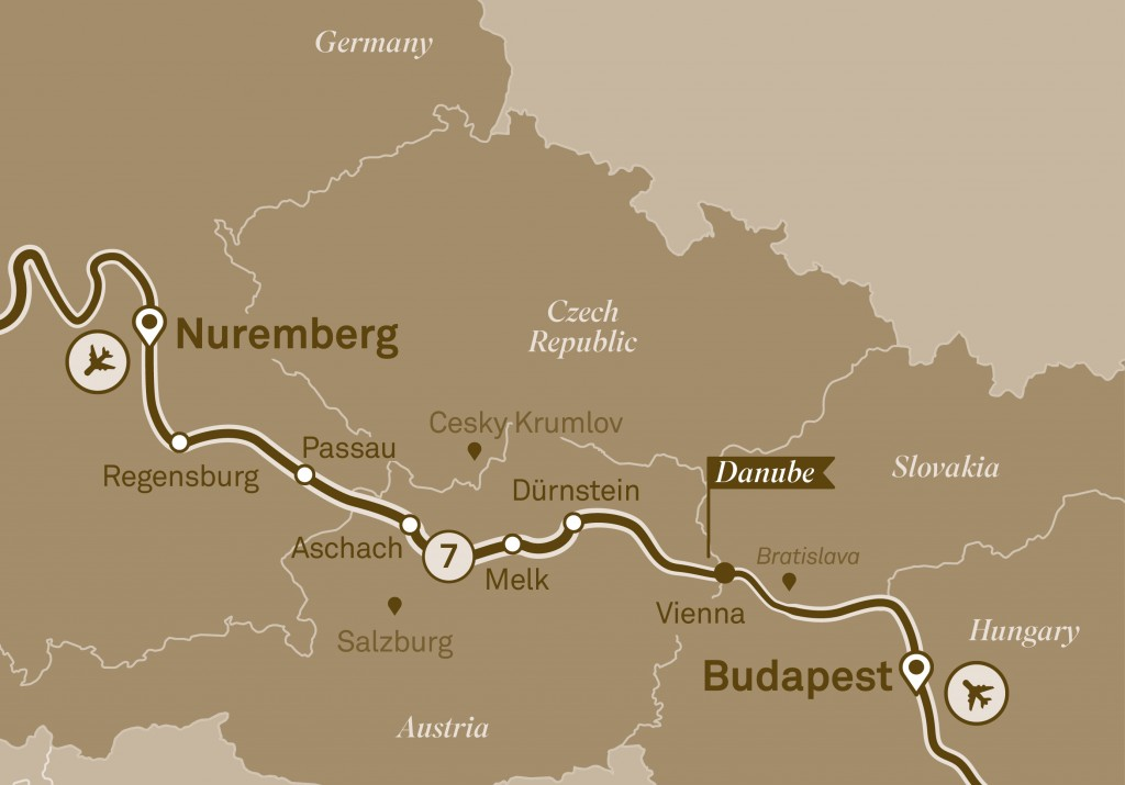 Scenic Danube Map