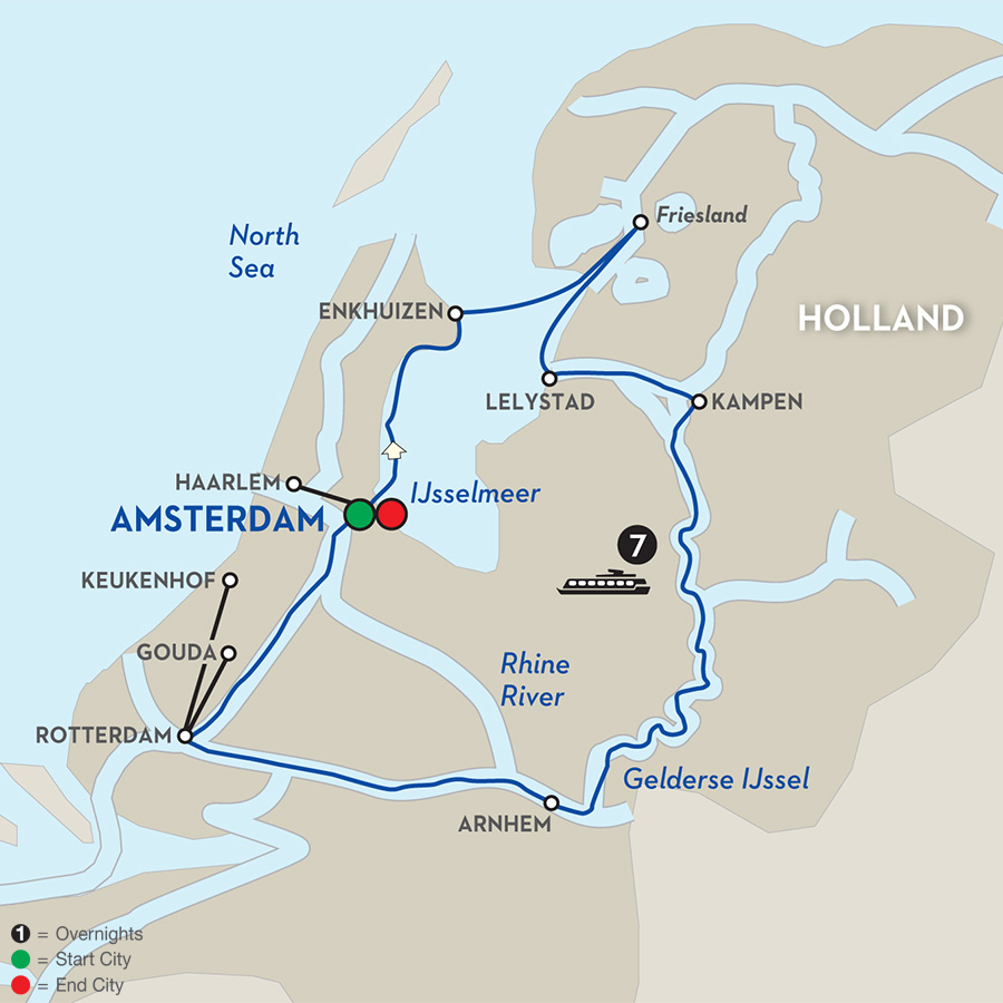 Avalon Tulips of the Netherlands Map